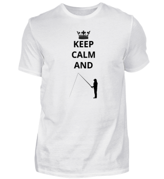 geschenk keep calm and angeln fischer fischen