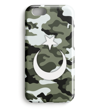 Kamuflaj Türk Bayragi Iphone Case Model2