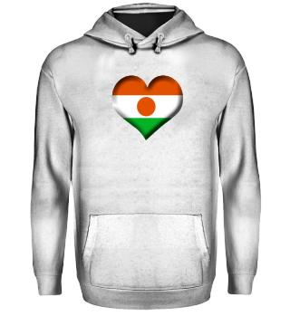 Niger Herz Flagge