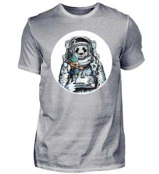 Astronaut Panda Bär Eis Weltall Space