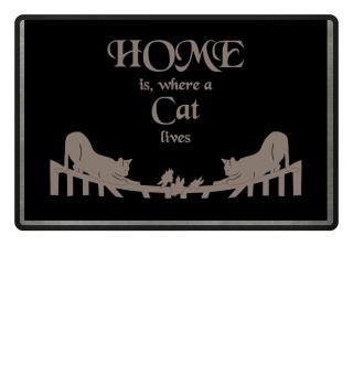 Fussmatte - HOME is ... Cat