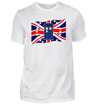 ♥ Blue Police Box - Union Jack Flag 2