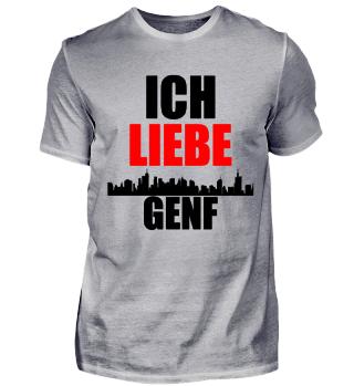Meine Stadt T-Shirt ich liebe Genf