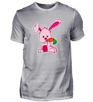 Flat Design Rabbit Loves Carrot Hungry
