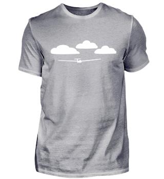 Vorlage Wolken mit Segelflugzeug