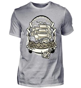 Segelboot Badge