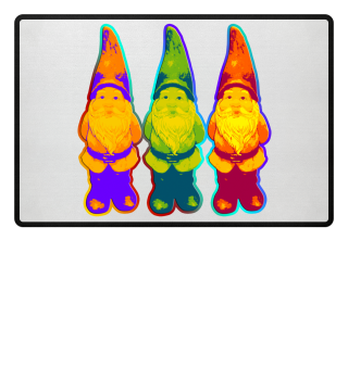 Drei Gartenzwerge - neon style
