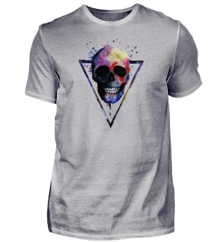 Aquarell Skull Schädel Geschenk Idee