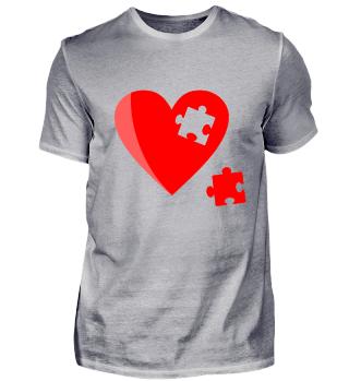 Herz als Puzzel eine tolle Geschenkidee