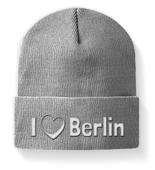 I love Berlin - Mütze mit Stickerei