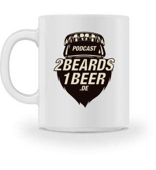 2 Beards 1 Beer - Kaffetasse