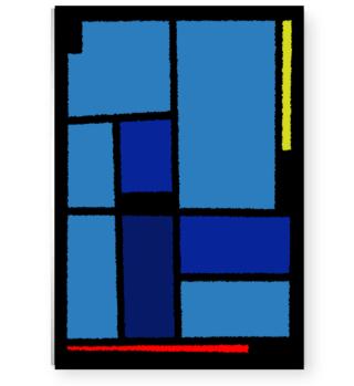 KUBISM Colours #1 Blau | Geschenkidee
