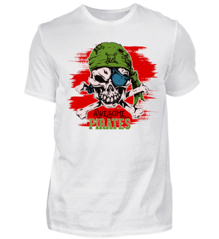 Awesome Pirates Skull and Crossbones