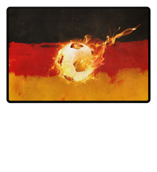 The Fire Of Germanys Soccer - Fussmatte