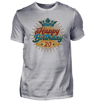 20 jahre geburtstag birthday geschenk