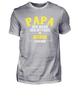 Papa Motorrad Legende Shirt
