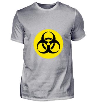 Biohazard Logo Schwarz auf Geld