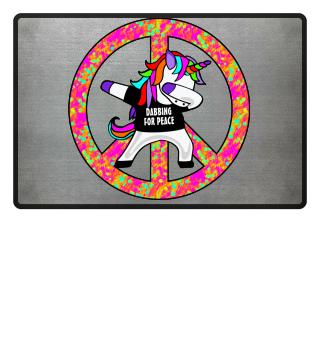Dabbing Rainbow Unicorn - Peace Dab 1