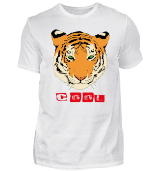 COOL TIGER T- SHIRT Gift Idea Cat Shirt