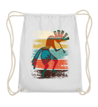 Kokopelli On Stripes Grunge Style I