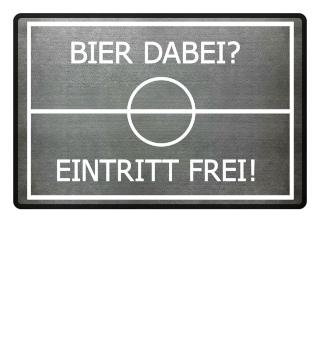 Bier-Fußball - FUSSMATTE