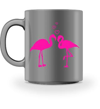 Flamingo Liebe Tasse Valentinstag