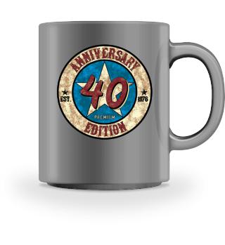 40 Jahre 1978 Geburtstag US Vintage Geschenk gift present birthday forty