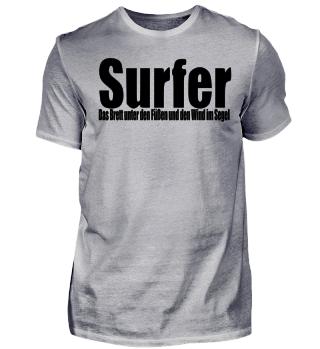 Surfer Segel Wassersport Geschenkidee