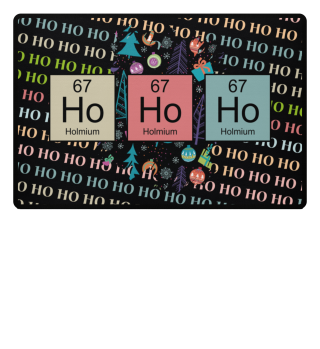 ♥ Christmas Chemical Elements HO HO HO 3