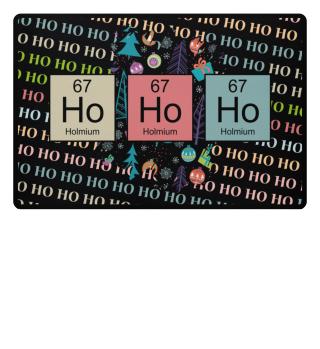♥ Christmas Chemical Elements HO HO HO 3