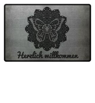 ♥ Vintage Mandala I Butterfly I black 3