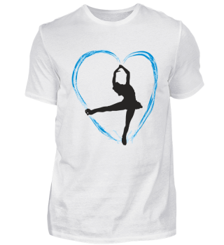 Ice blue heart and a dancing girl bk