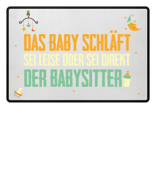 Babysitter Fußmatte für junge Familien