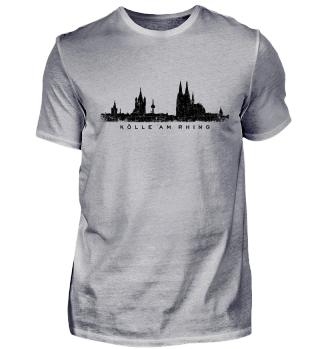 Köln Skyline Kölle am Rhing Vintage