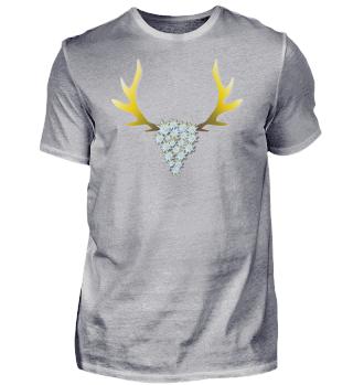 Shirt mit Hirsch und Edelweiß