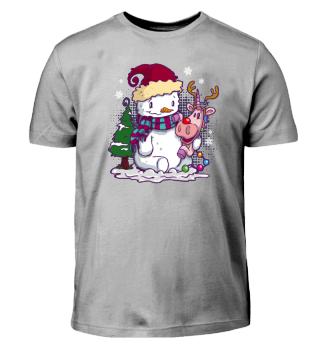 Einhorn Schneemann Rudolph Freunde