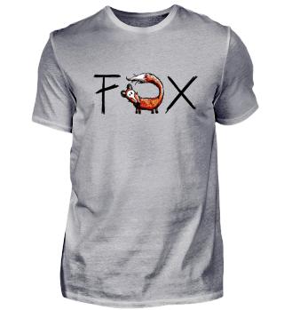 Lustiger Fuchs I Fox Comic Geschenk