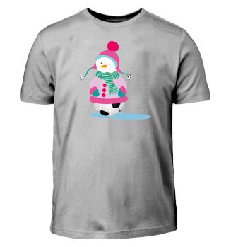Fußball Schneemann - Lustiges Shirt Kind