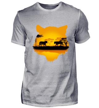 Tiger Safari Tour Afrika Shirt Geschenk