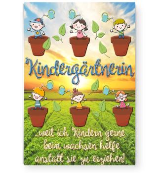 Poster Kindergärtnerin