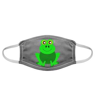 Frosch Maske Stoffmaske Facemask lustig
