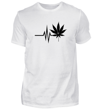 Mein Herz schlägt für Cannabis THC CBD Marihuana