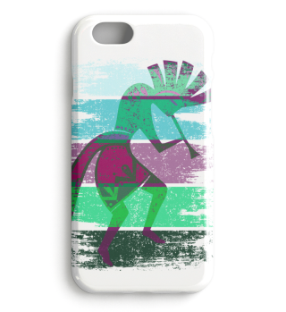 Kokopelli On Stripes Grunge Style IIb
