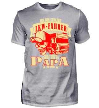 Lkw-Fahrer und Papa? Fun design Shirt