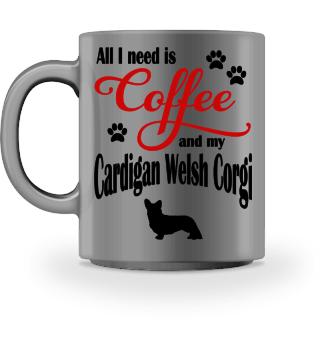 Coffee and my Cardigan Welsh Corgi
