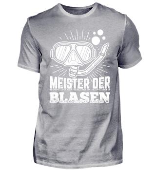 Lustiges Taucher Tauchen Shirt Meister