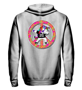 Dabbing Rainbow Unicorn - Peace Dab 2