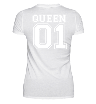 Queen 01 Partnershirt Couple Shirt Love Partner partnerlook Gift Birthday Christmas Geschenk