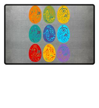 ★ Nine Boho Ornaments Easter Eggs 1