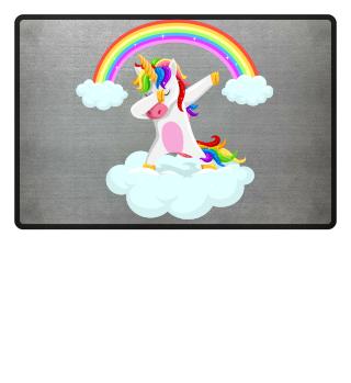 Dabbing unicorn dancing on grass gift